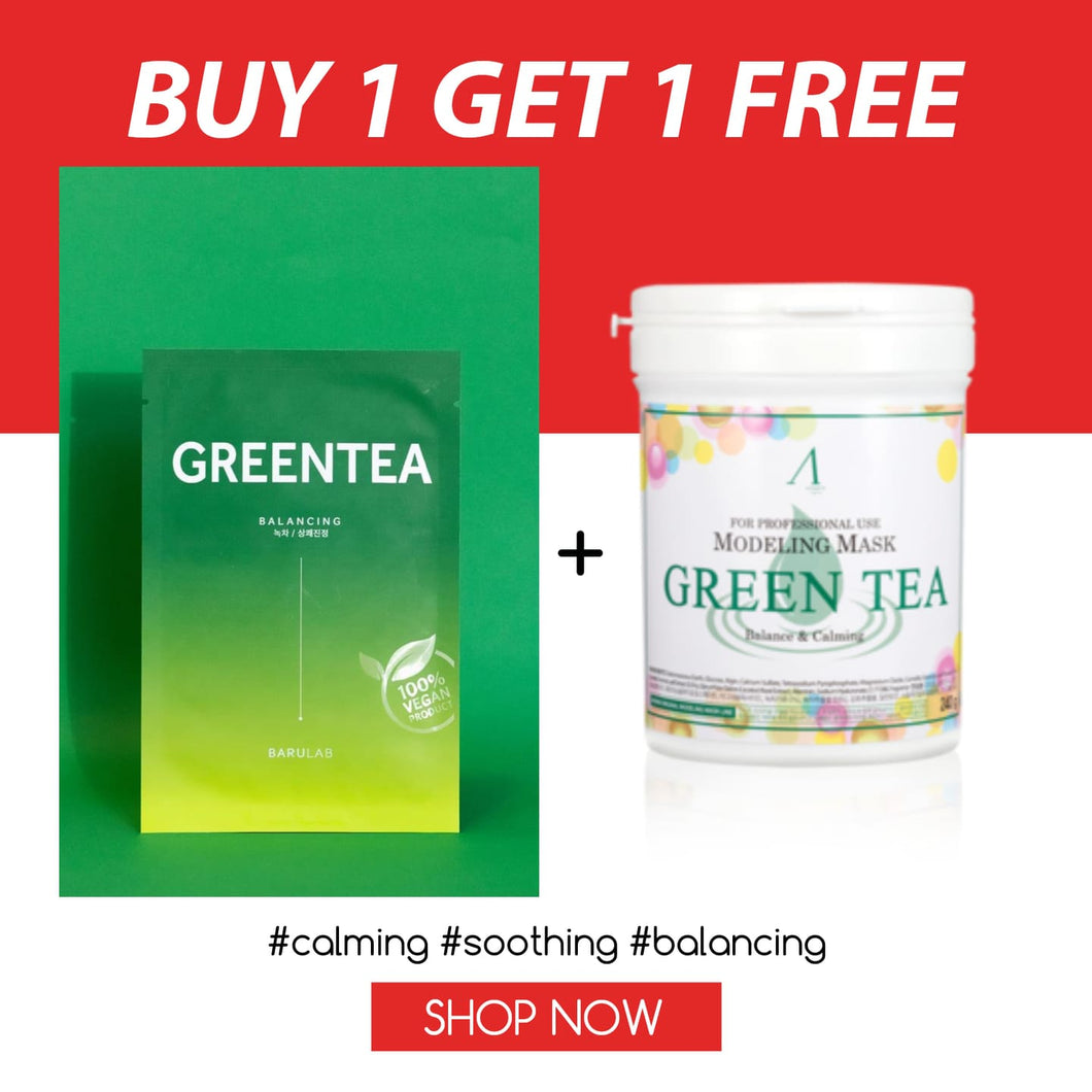 SKSS: Green Tea+ Free Anskin Modeling Mask#Green Tea