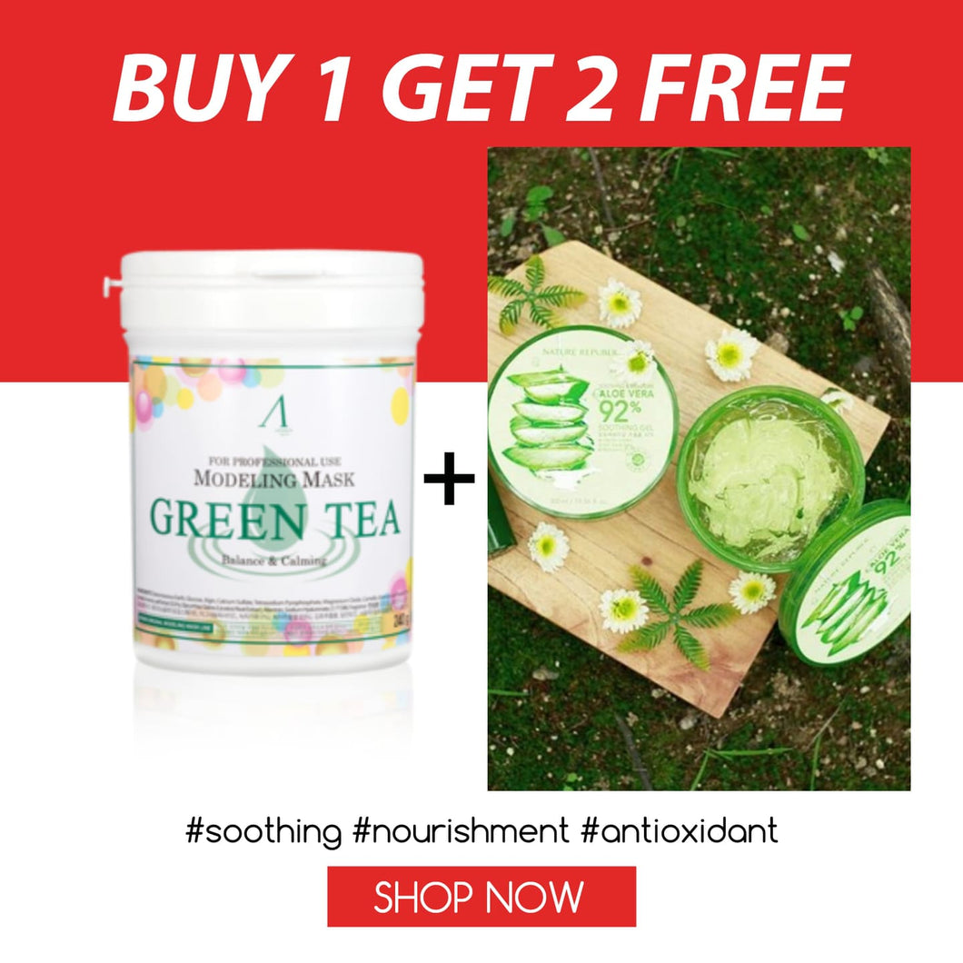 SKSS: Green Tea + 2 Free Aloe Gel