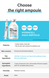 GD11 Cell Factory Hydracell Aqua Ampoule 35ml + Free GD11 Power Ball 1EA