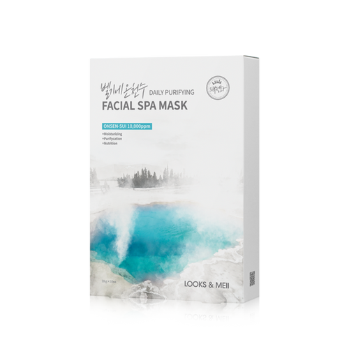 LOOKS&MEII Daily Purifying Facial Spa Mask 10EA