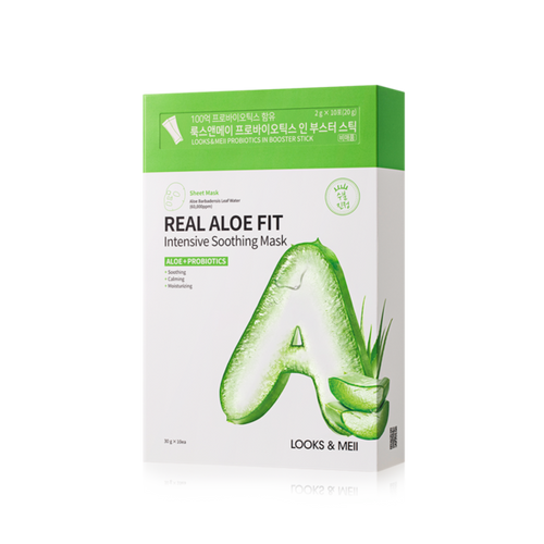 LOOKS&MEII Real Aloe Fit Intensive Soothing Mask 10EA