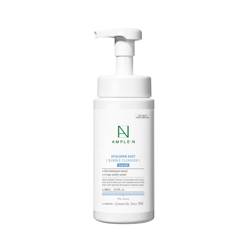 AMPLE:N Hyaluronshot Bubble Cleanser 450ml