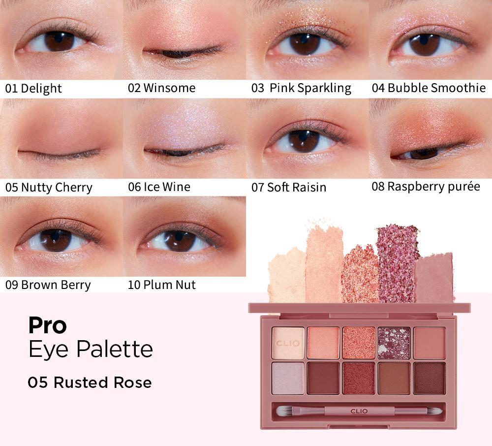 CLIO Pro Eye Palette #RUSTED ROSE