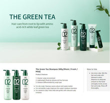 Load image into Gallery viewer, AMOS The Green Tea Shampoo (Fresh) 500ml