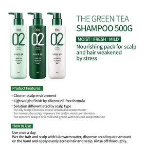 AMOS The Green Tea Shampoo (Fresh) 500ml
