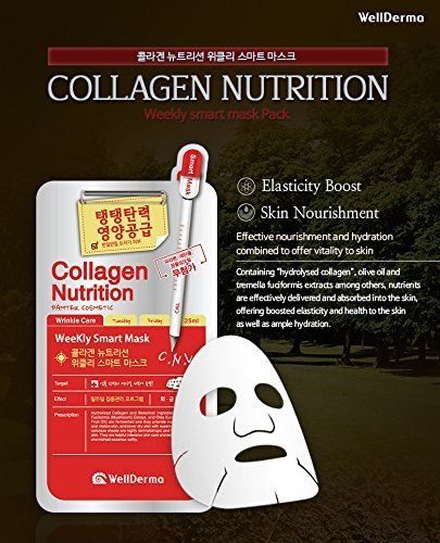 WellDerma Collagen Nutrition Weekly Smart Mask 10EA