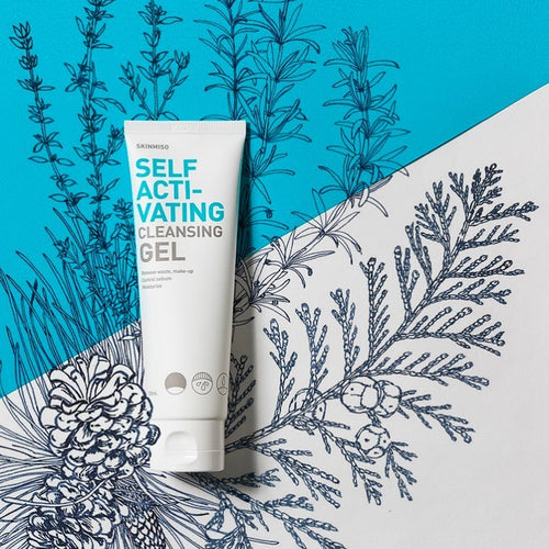 SKINMISO Self Activating Cleansing Gel 120ml ~ Exp: 20210102