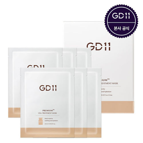 GD11 Premium RX Cell Treatment Mask 6EA + Free Ampoule Sachet 3EA