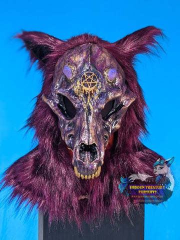 Necromancer Canine Skull Resin Cast Fursuit Costume Hood