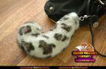 Snow Leopard Tail Keychain Furry Fursona Bag Charm
