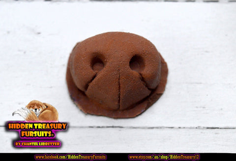 Silicone Fursuit Nose Fox Small Dog Canine Brown Realistic Furry Fursona Hidden Treasury