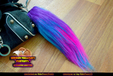 Rainbow Pony Tail Keychain Furry Fursona Bag Charm