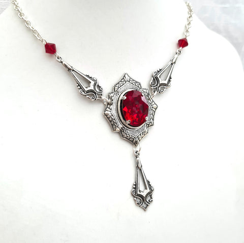 'Dracula's Kiss' Necklace (Colour Options)