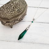 'Vial' Pendant Necklace (Colour Options)