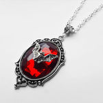Large Bat Jewel Pendant Necklace (Colour Options)