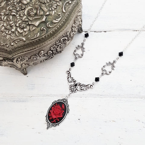 'Rose Lenore' Necklace (Colour Options)
