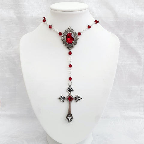 Rosary 'Dracul' Necklace (Colour Options)