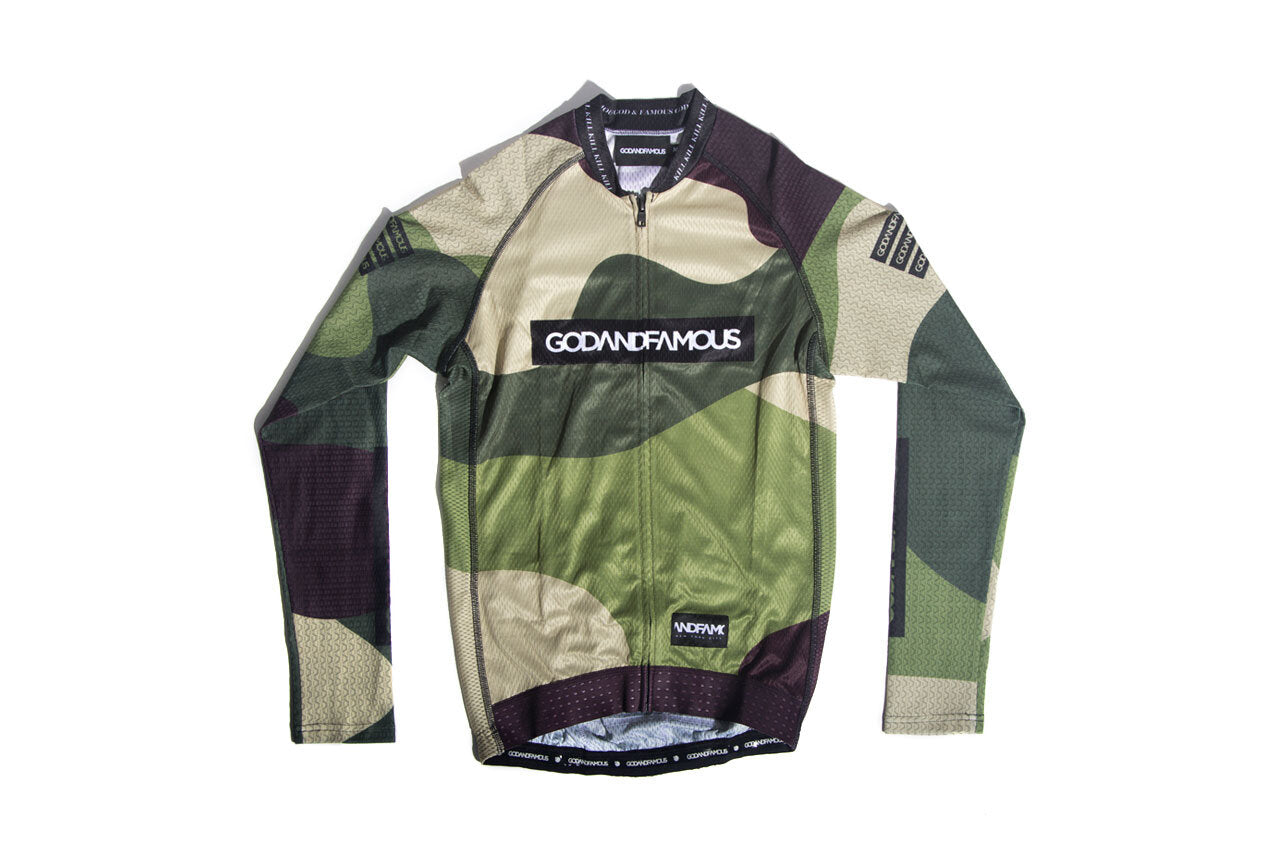 God and Famous Duck Camo 3TAC LS Jersey