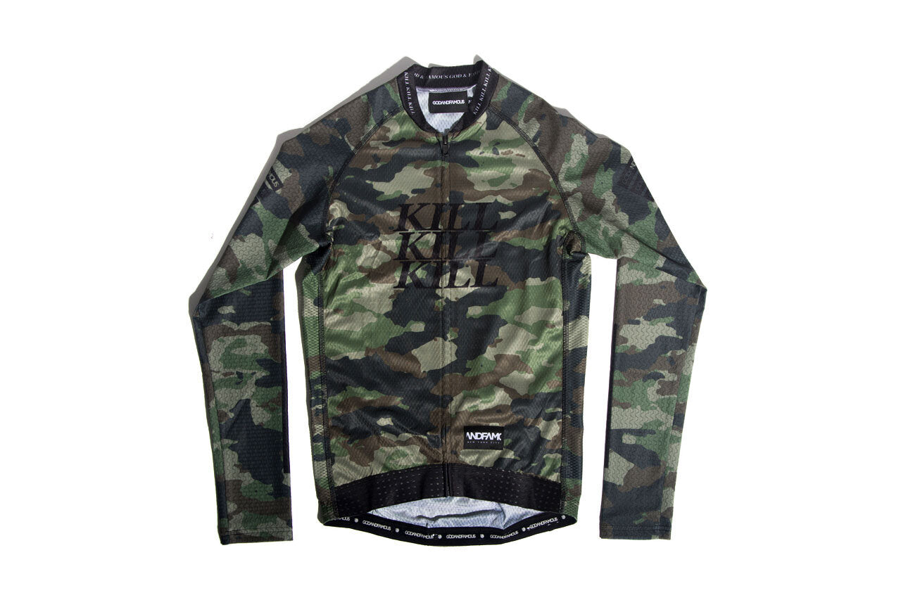 God and Famous Woodland Camo 3TAC LS Jersey