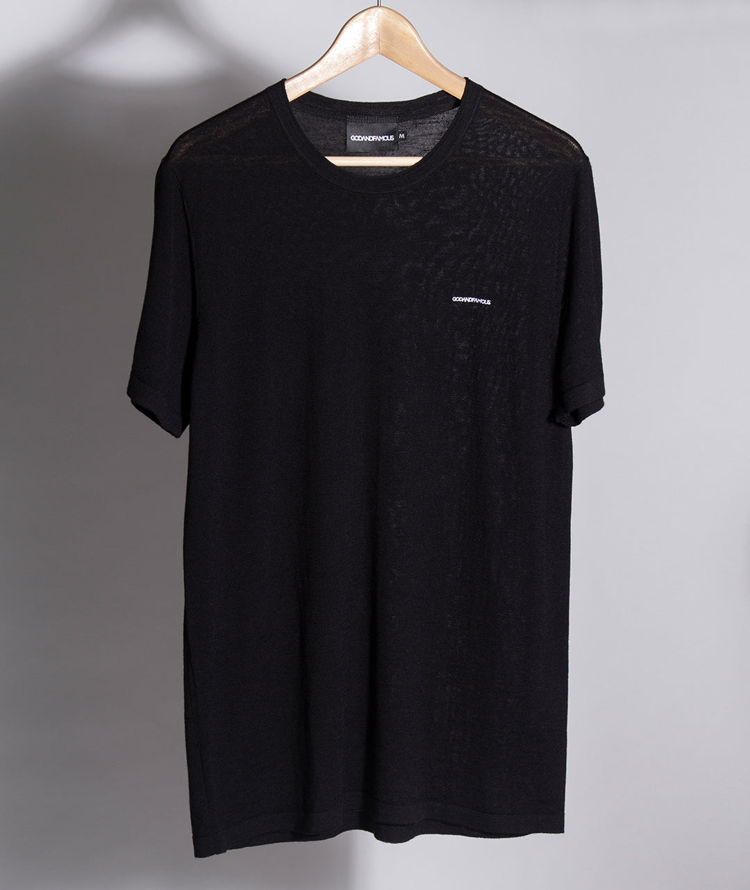 God and Famous Merino Wool Knit Shirt