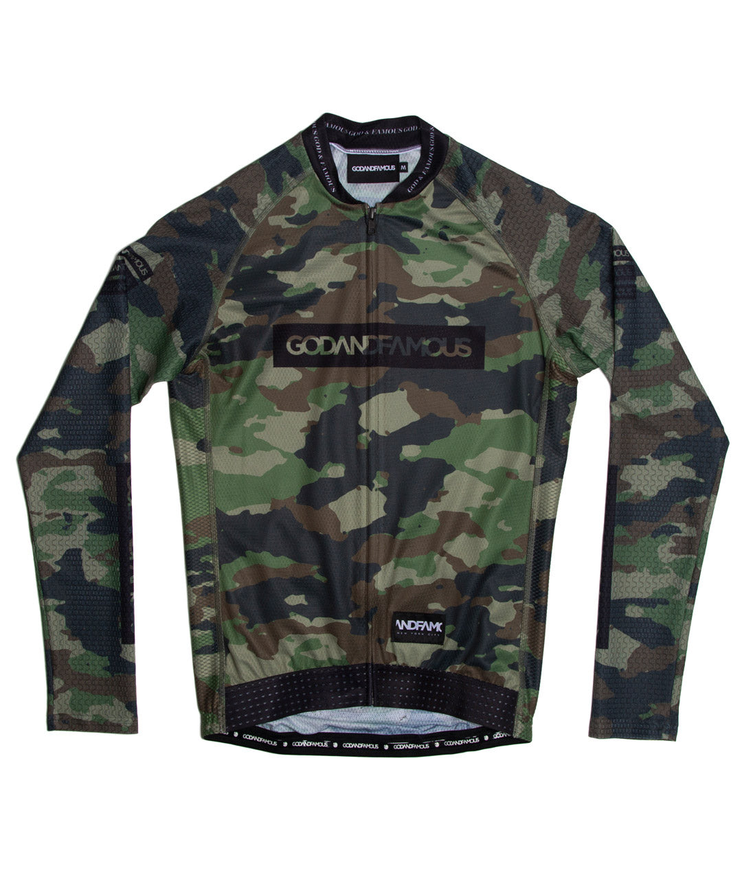 God and Famous Woodland Camo LS Jersey