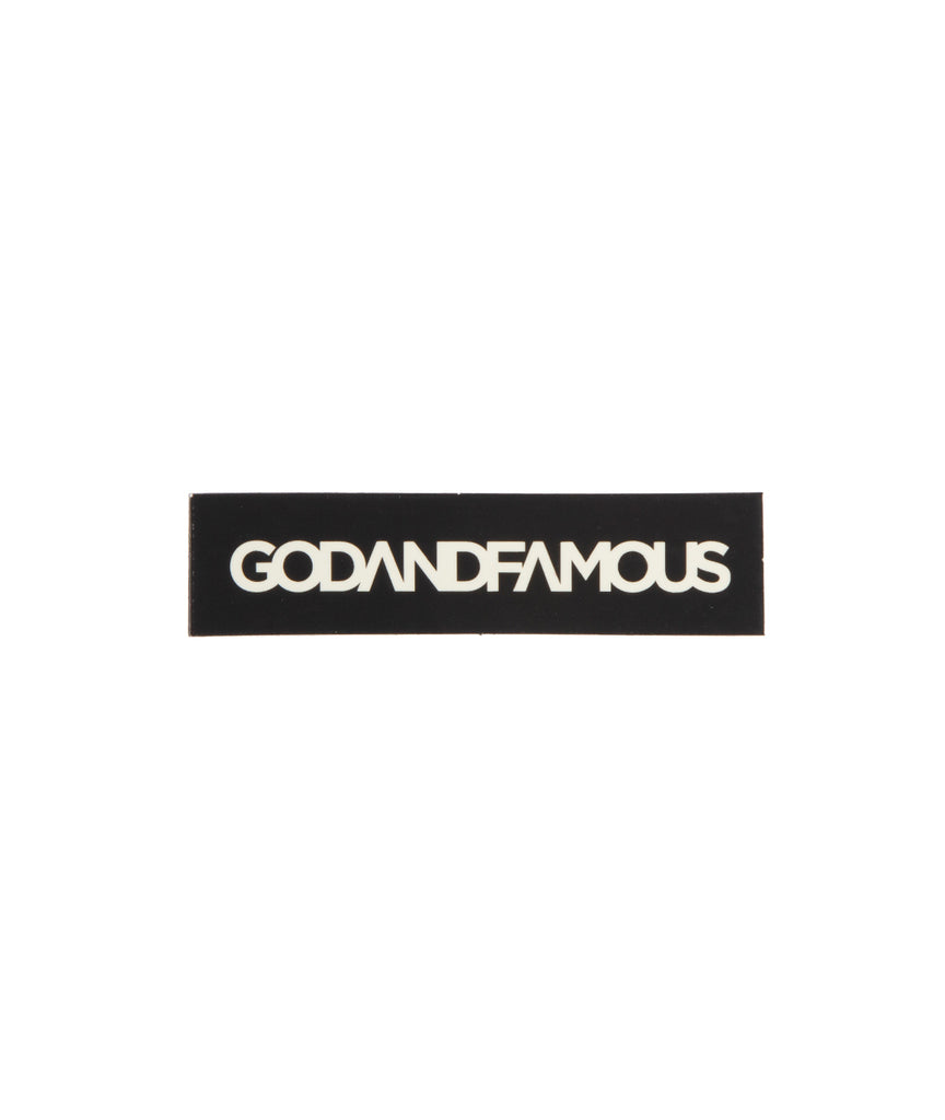 God and Famous Box Logo Sticker - 3 in