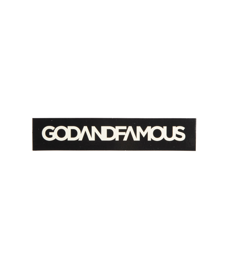 God and Famous Box Logo Sticker - 5 in