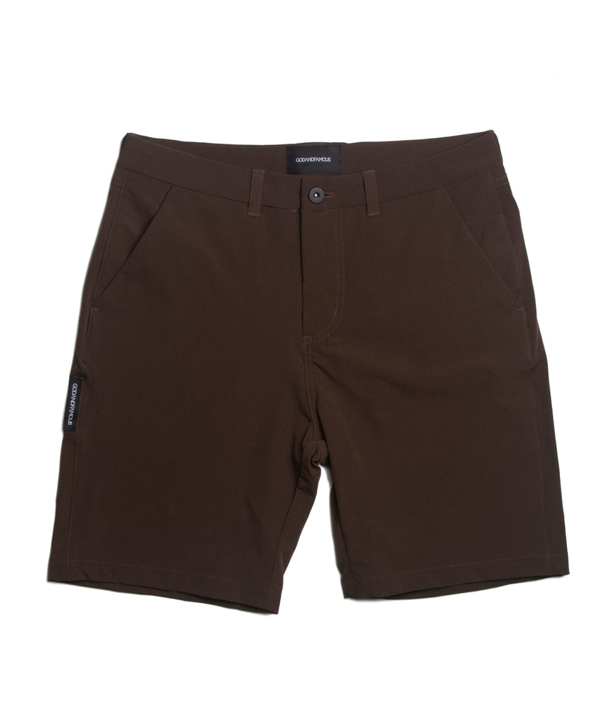 God and Famous Commuter Shorts Brown