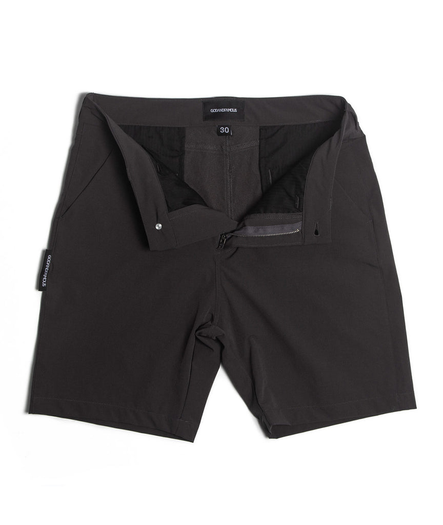 God and Famous Commuter Shorts - Gray
