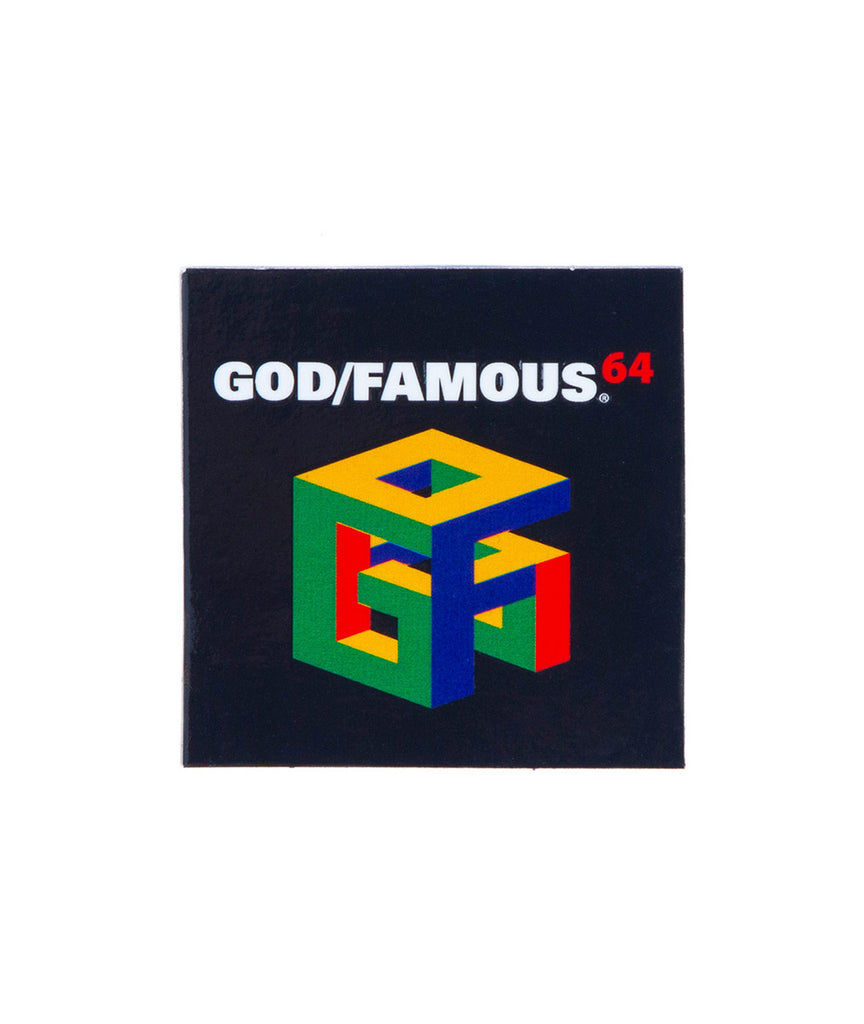 God and Famous G64 Sticker