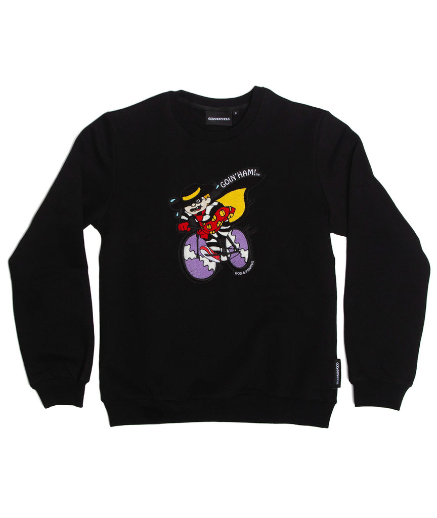 God and Famous Ham Crewneck Sweatshirt - Black