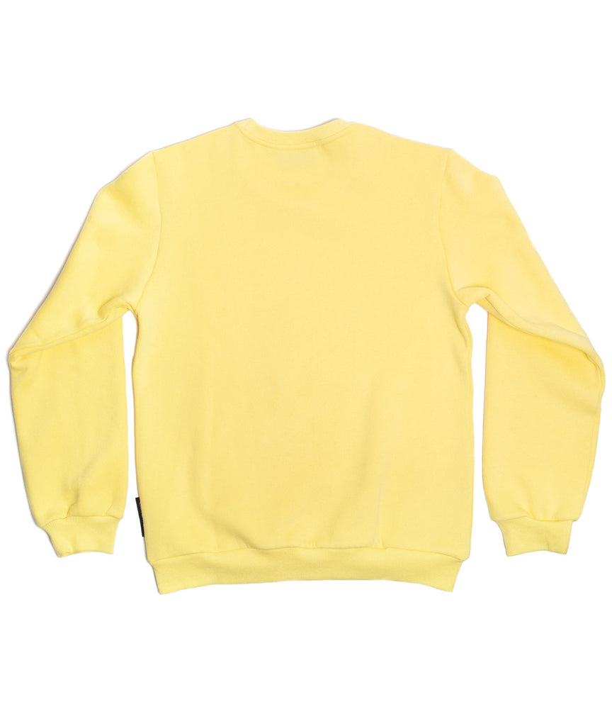 God and Famous Ham Crewneck Sweatshirt - Fry Yellow