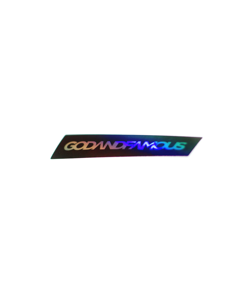 God and Famous Hologram Sticker