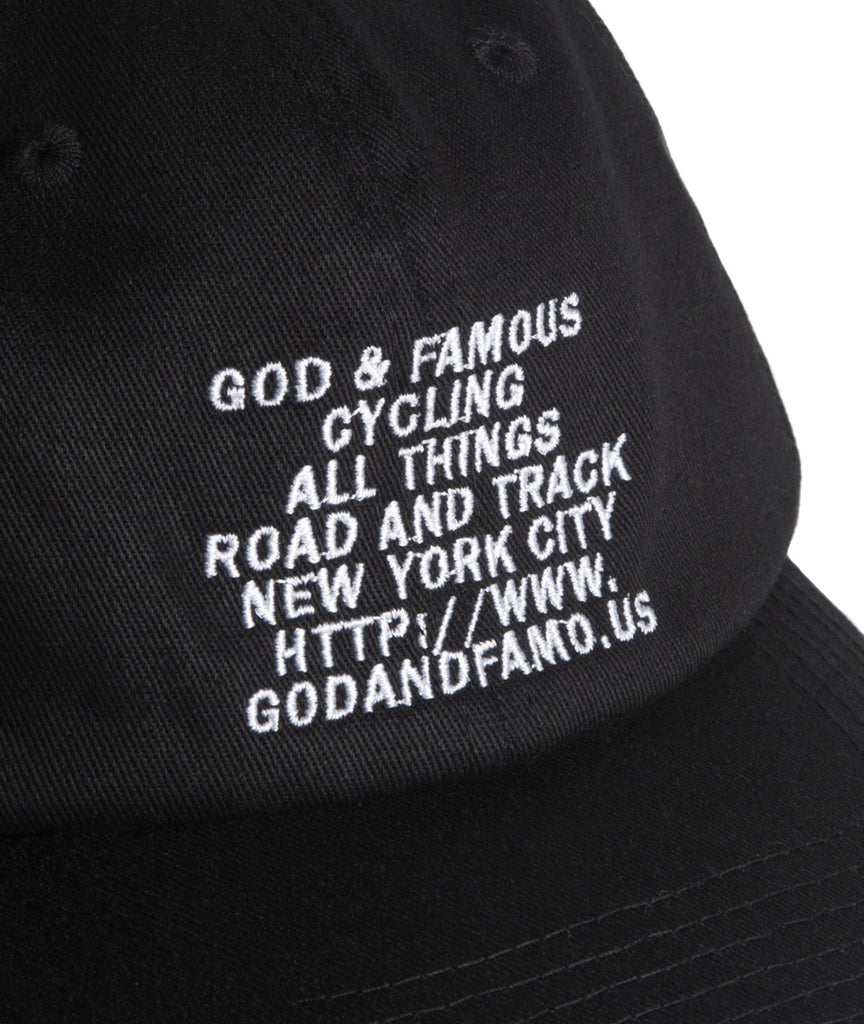 God and Famous Mantra 6-Panel Hat