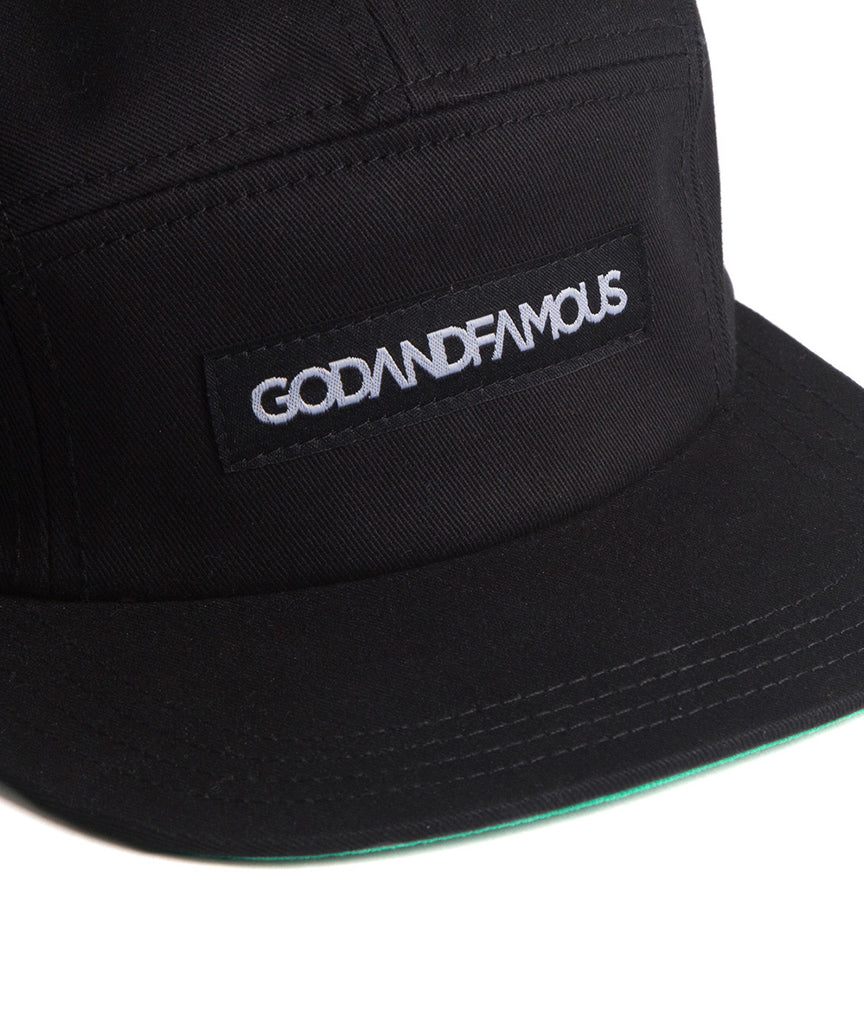 God and Famous 5-Panel Hat - Black