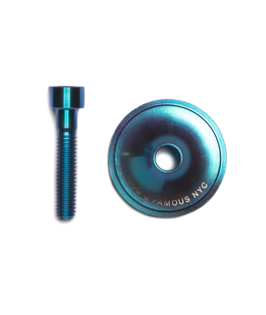 God and Famous Team Titanium Top Cap - Turquoise