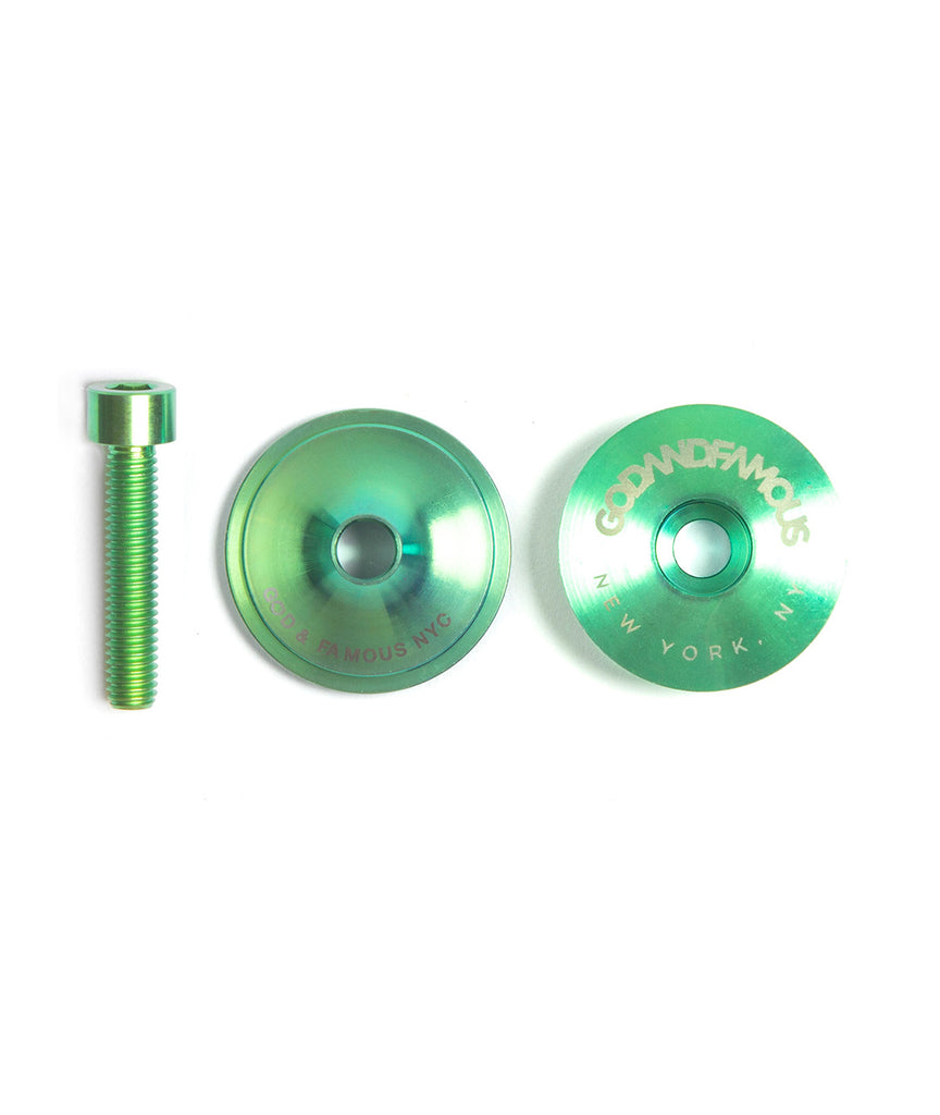 God and Famous Team Titanium Top Cap - Green