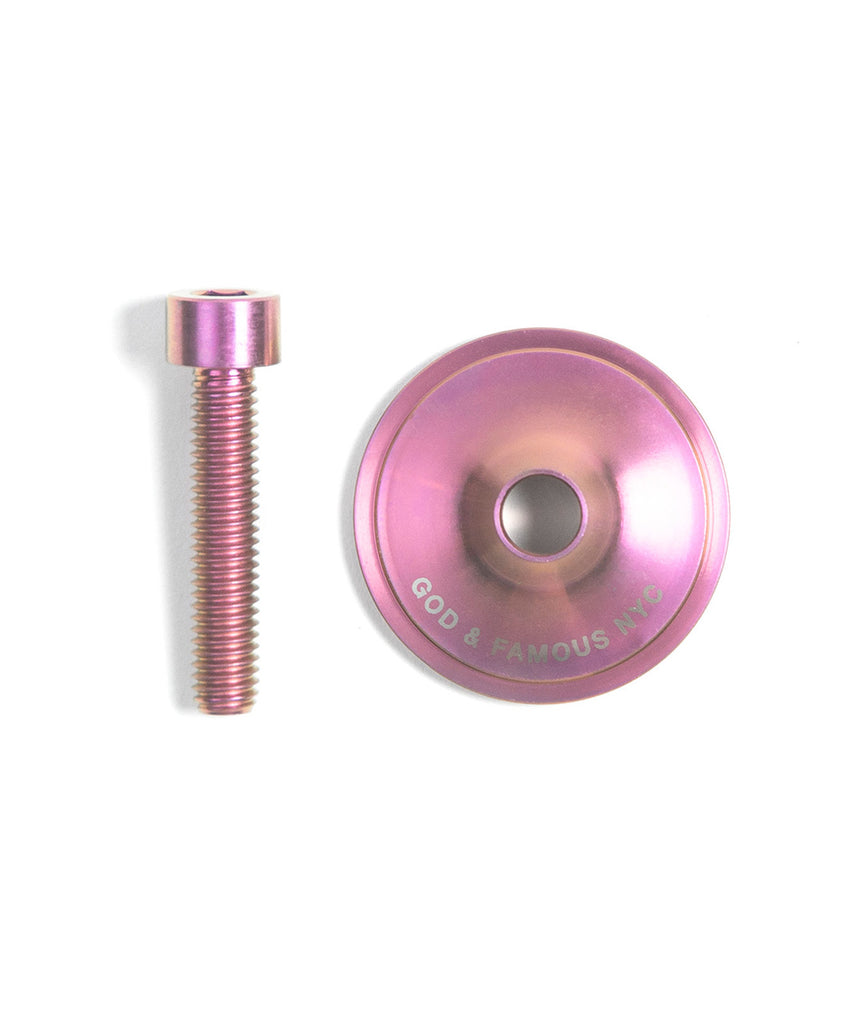 God and Famous Team Titanium Top Cap - Soft Pink