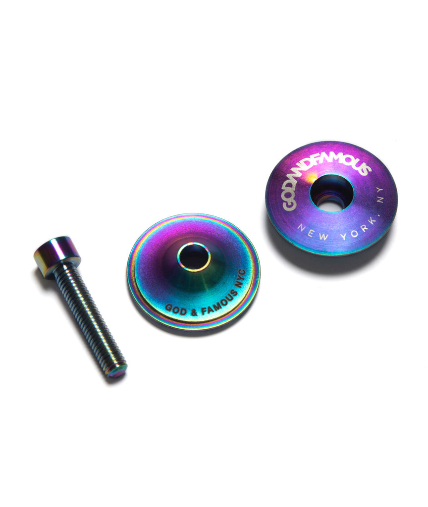God and Famous Team Titanium Top Cap - Oil Slick