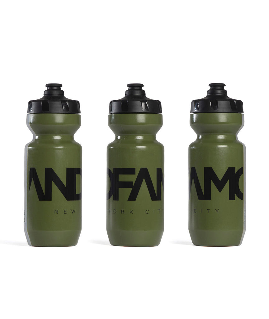 God and Famous Team Water Bottle - Moss