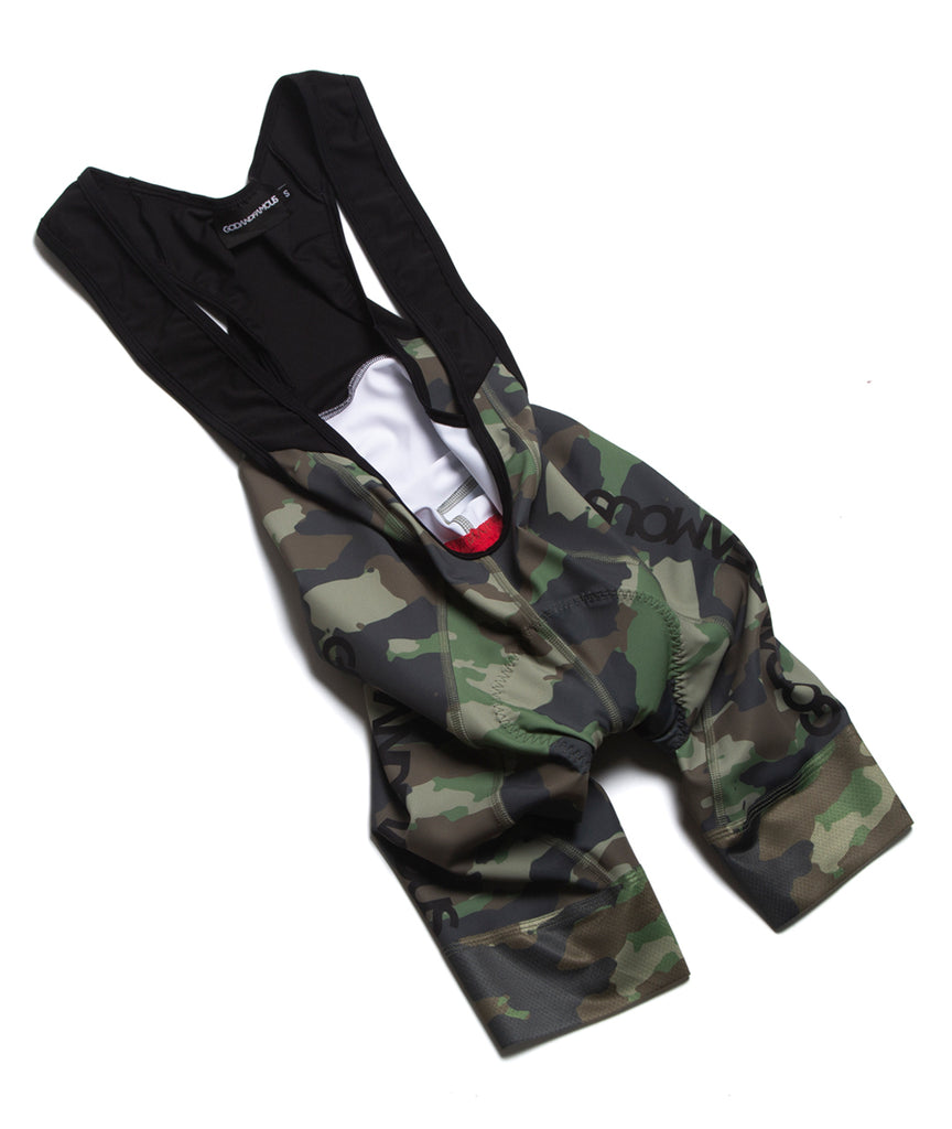 God and Famous Team Bib Woodland Camo