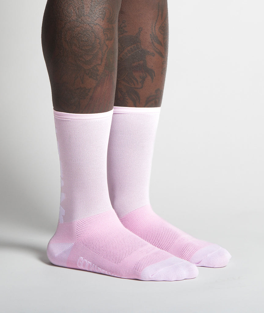 God and Famous Team Sock - Pink