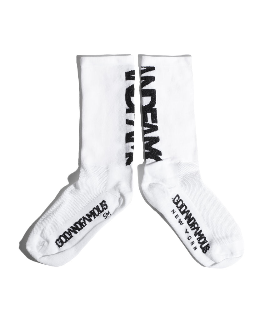 God and Famous Team Sock - White
