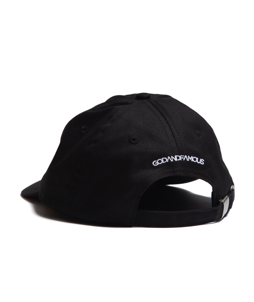 God and Famous Trash 6-Panel Hat - Black
