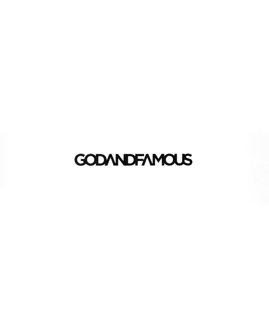 God and Famous Vinyl Decal - Black