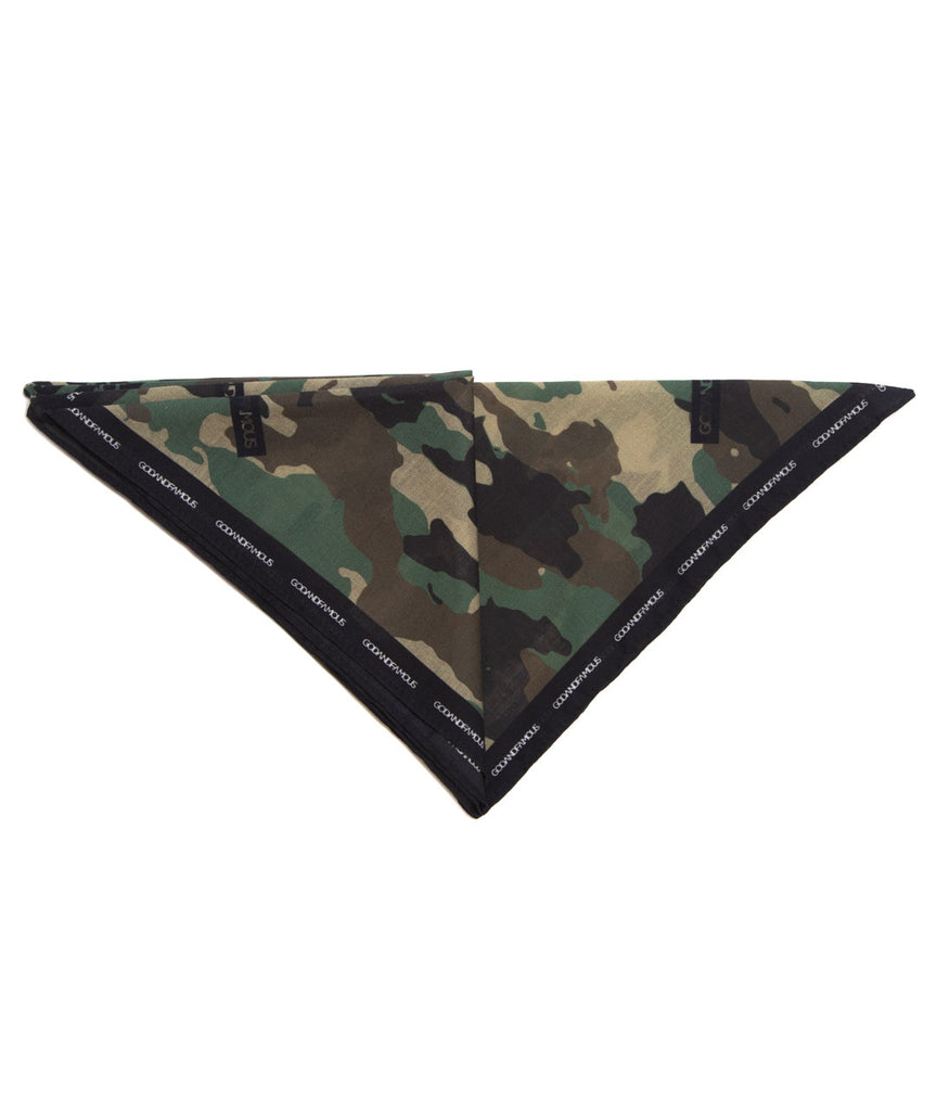 God and Famous Woodland Camo Bandana
