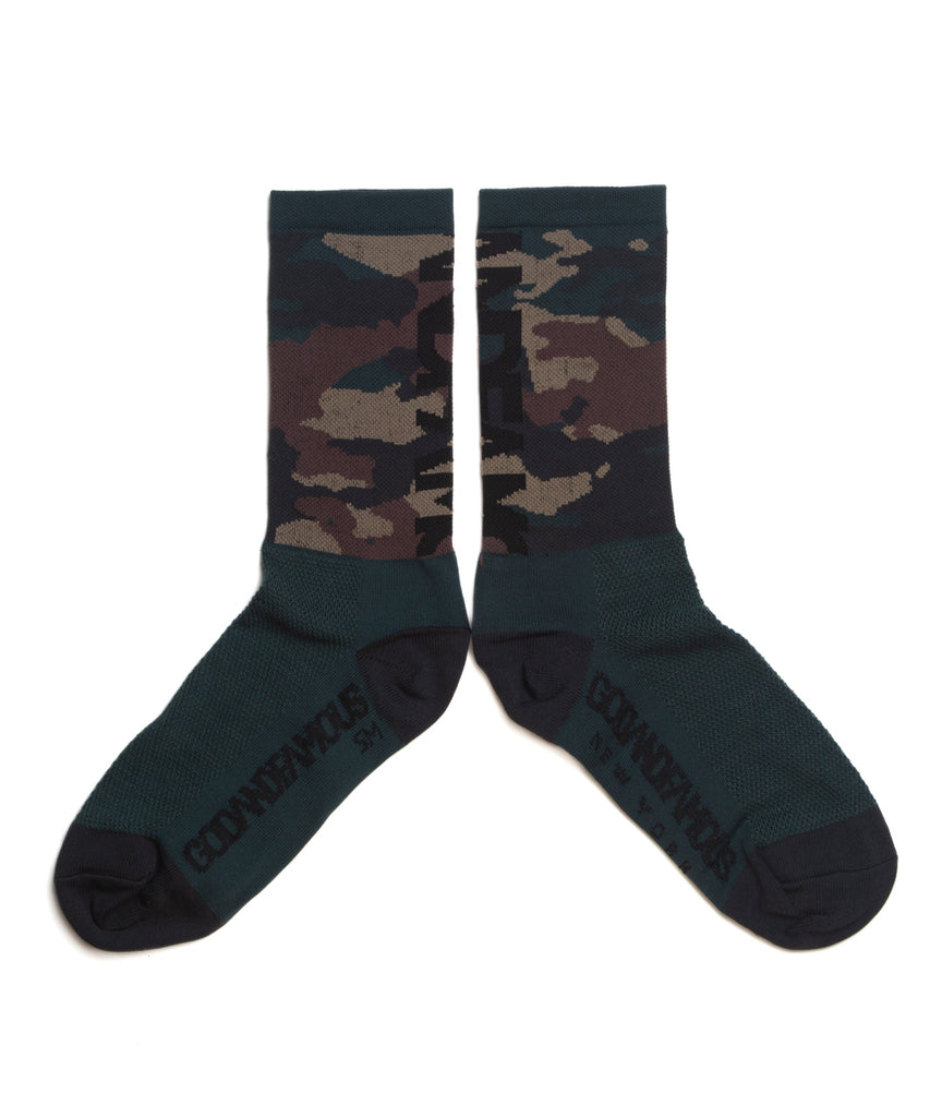 God and Famous Woodland Camo Sock