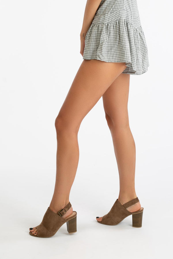 Toe The Line Heels in Taupe | Necessary Clothing