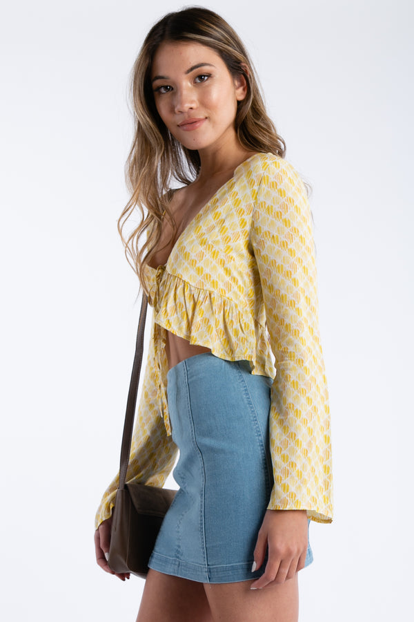 Honey Bee Top in Yellow | Necessary Clothing