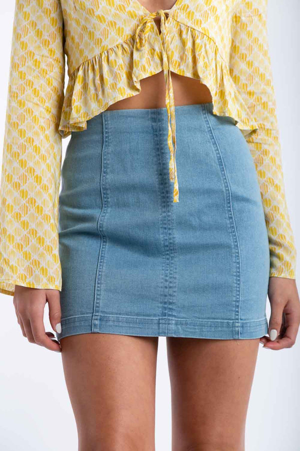 Sit Tight Denim Skirt | Necessary Clothing